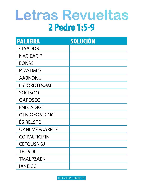 Letras Revueltas - 2 Pedro 1:5-9