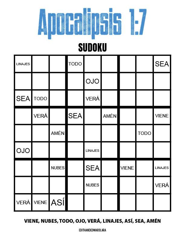 Apocalipsis 1:7 - Sudoku