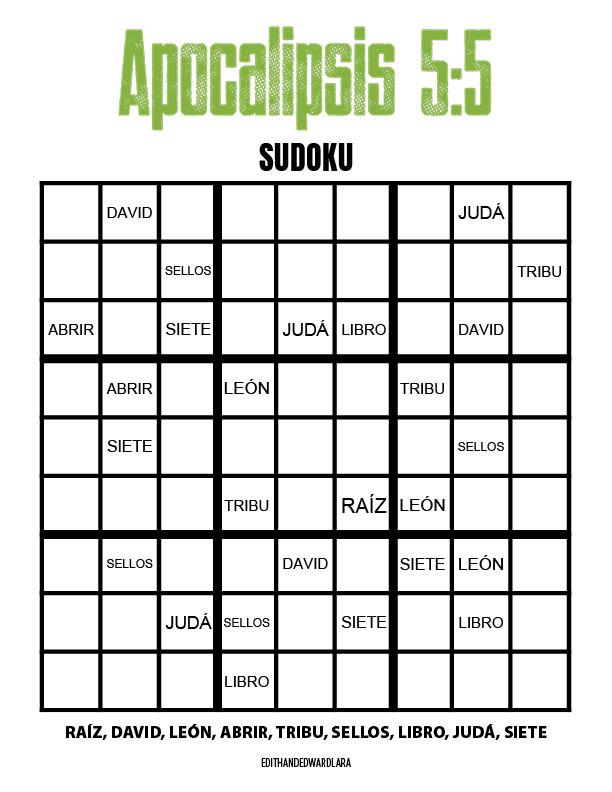 Apocalipsis 5:5 - Sudoku
