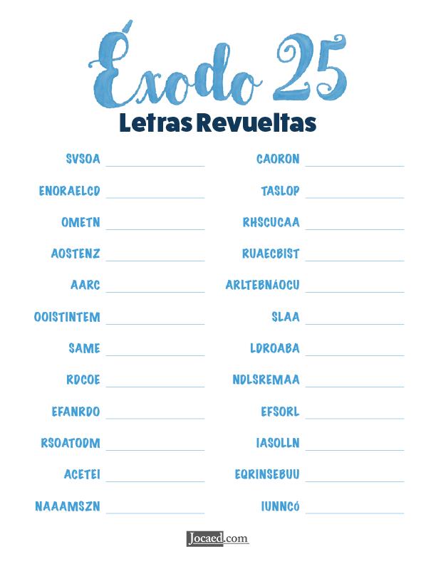Éxodo 25 - Letras Revueltas