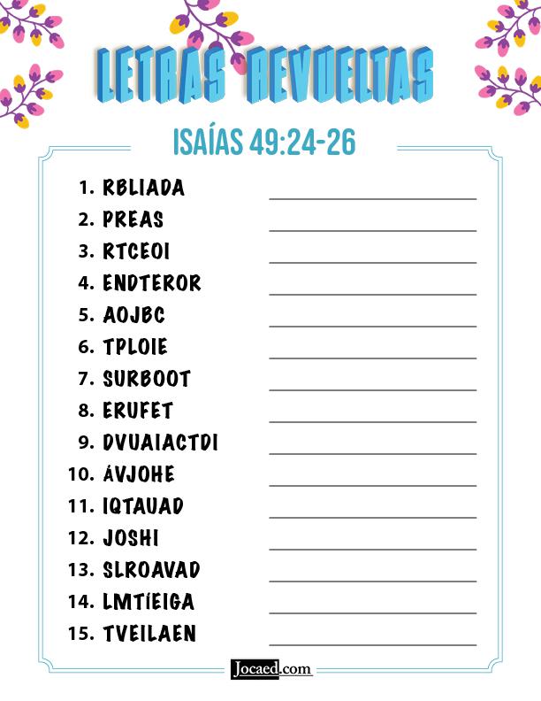 Isaías 49:24-26 - Letras Revueltas