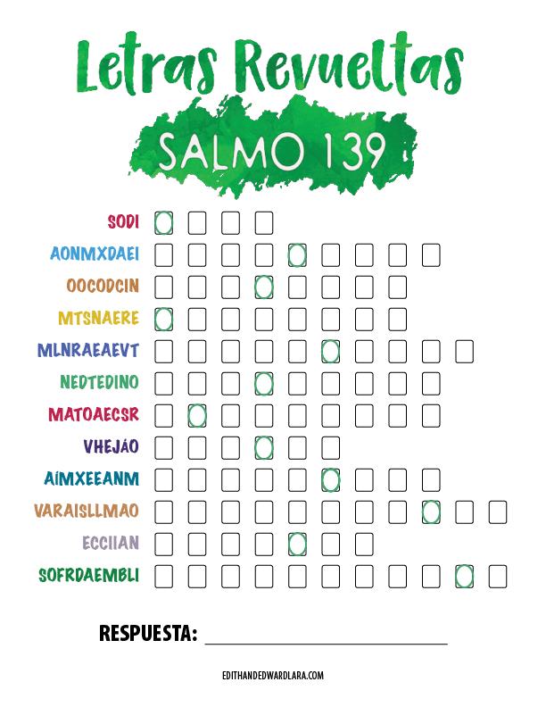 Salmo 139 - Letras Revueltas