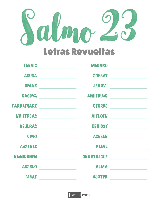 Salmo 23 - Letras Revueltas