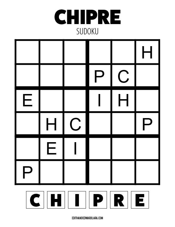 Chipre - Sudoku - Tamaño 6x6