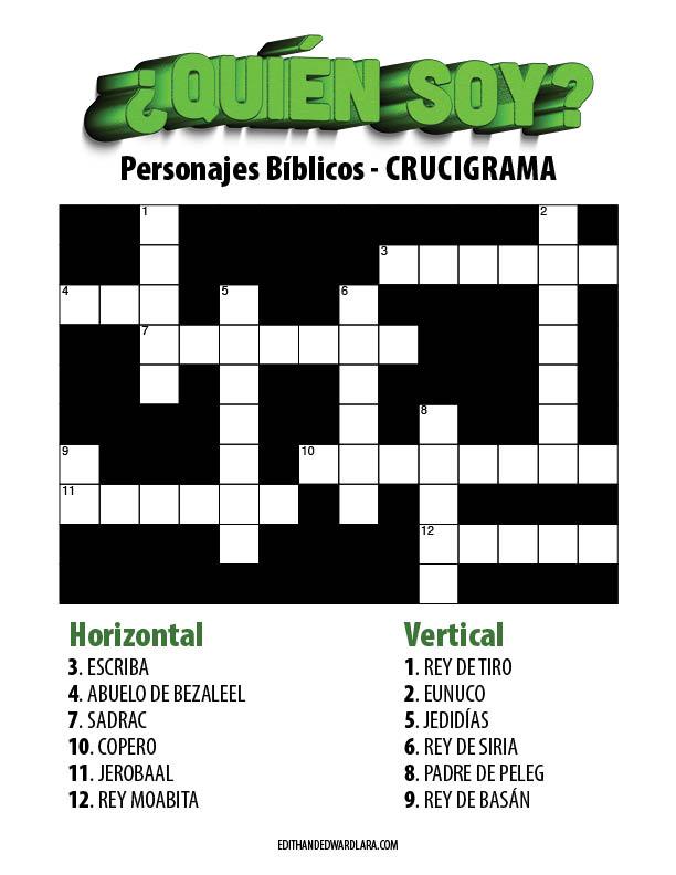 ¿Quién Soy? - Personajes Bíblicos - Crucigrama