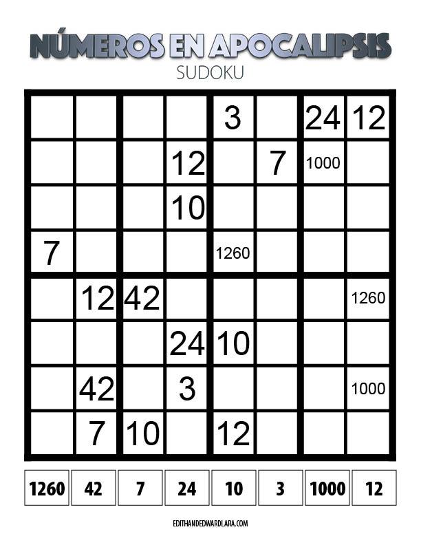 Números en Apocalipsis - Sudoku