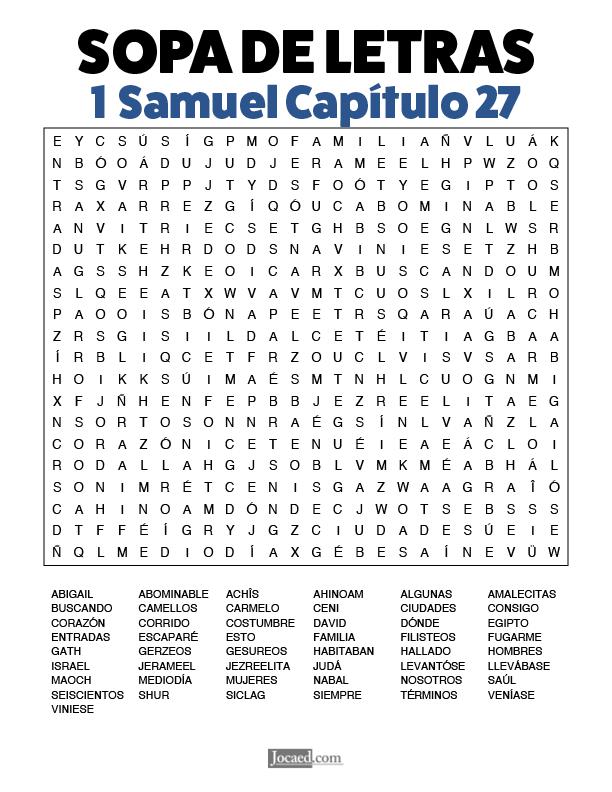 Sopa de Letras - 1 Samuel Cápitulo 27