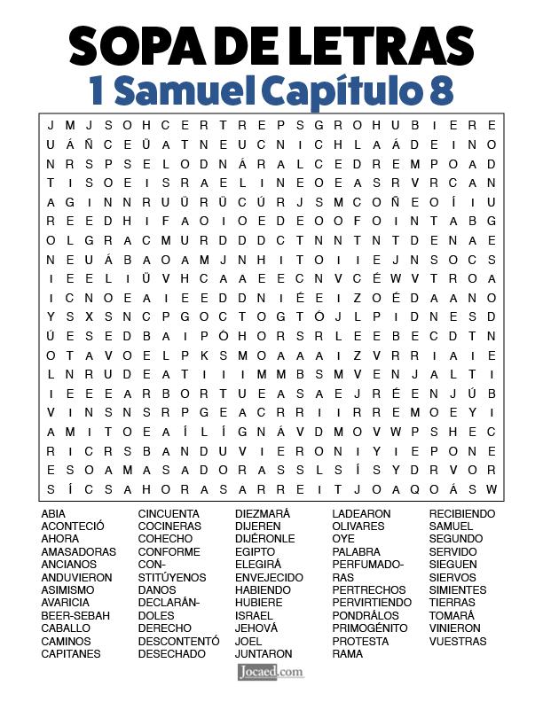Sopa de Letras - 1 Samuel Cápitulo 8