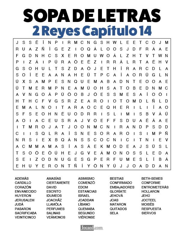 Sopa de Letras - 2 Reyes Cápitulo 14