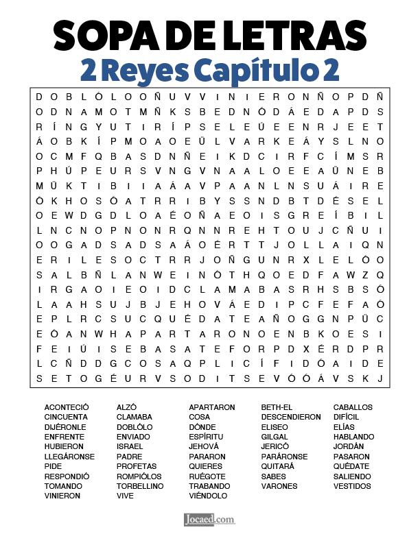 Sopa de Letras - 2 Reyes Cápitulo 2