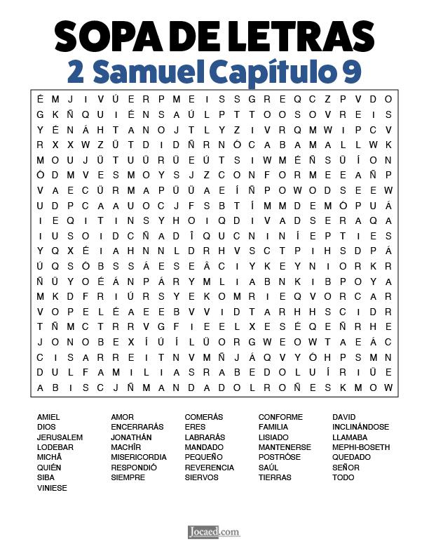 Sopa de Letras - 2 Samuel Cápitulo 9