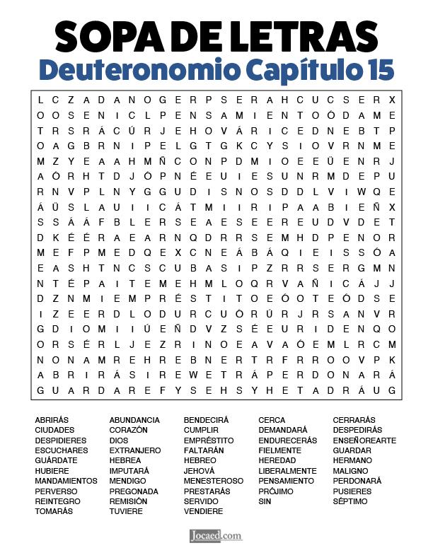 Sopa de Letras - Deuteronomio Cápitulo 15