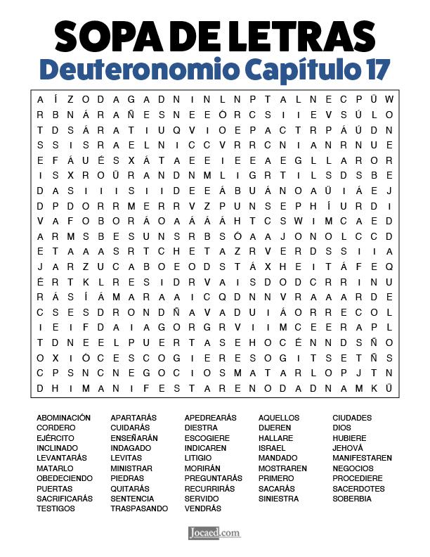 Sopa de Letras - Deuteronomio Cápitulo 17