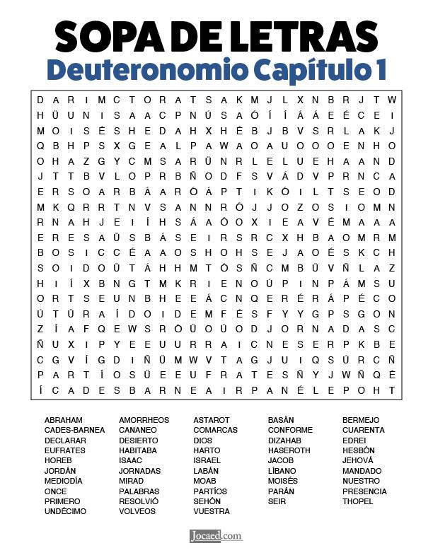 Sopa de Letras - Deuteronomio Cápitulo 1