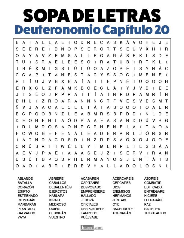 Sopa de Letras - Deuteronomio Cápitulo 20