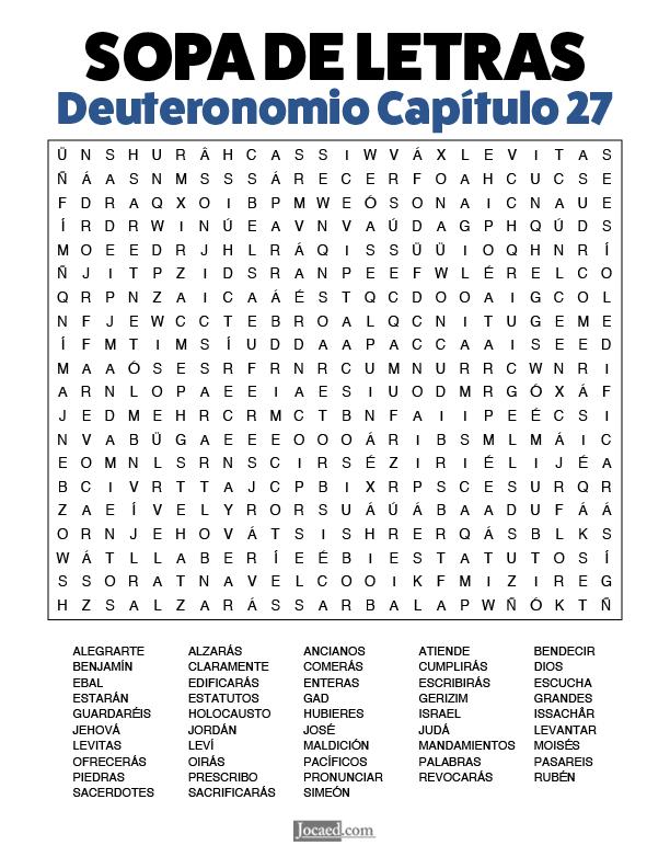 Sopa de Letras - Deuteronomio Cápitulo 27