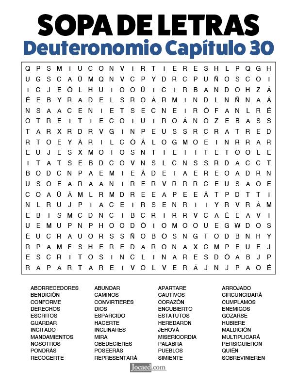 Sopa de Letras - Deuteronomio Cápitulo 30