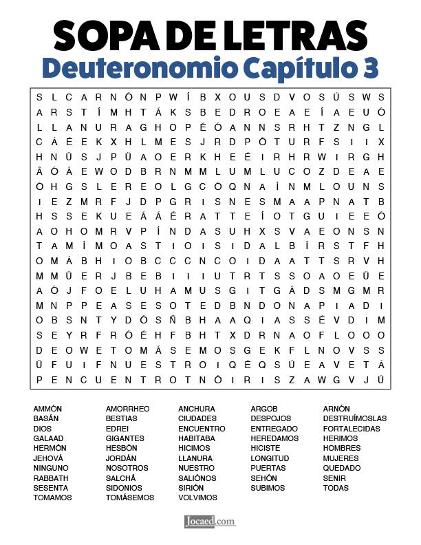 Sopa de Letras - Deuteronomio Cápitulo 3