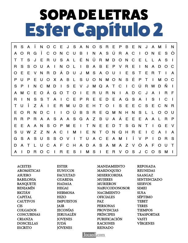 Sopa de Letras - Ester Cápitulo 2