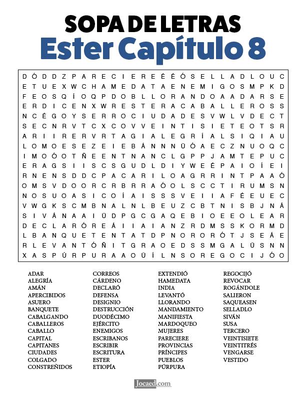 Sopa de Letras - Ester Cápitulo 8