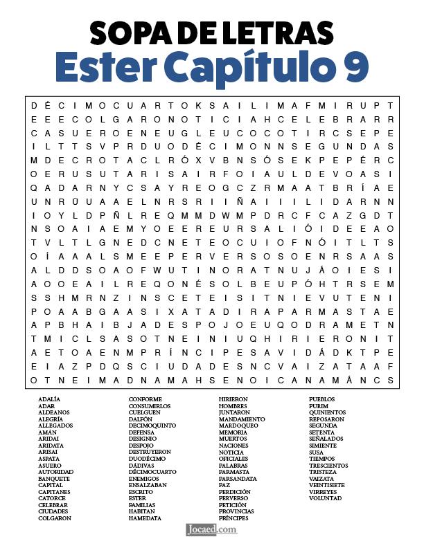 Sopa de Letras - Ester Cápitulo 9
