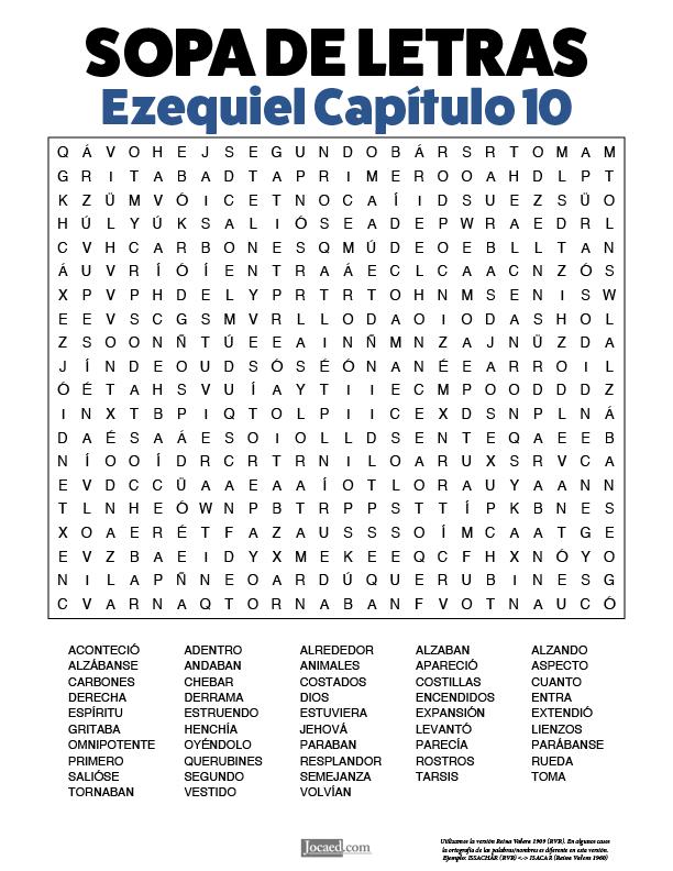 Sopa de Letras - Ezequiel Cápitulo 10