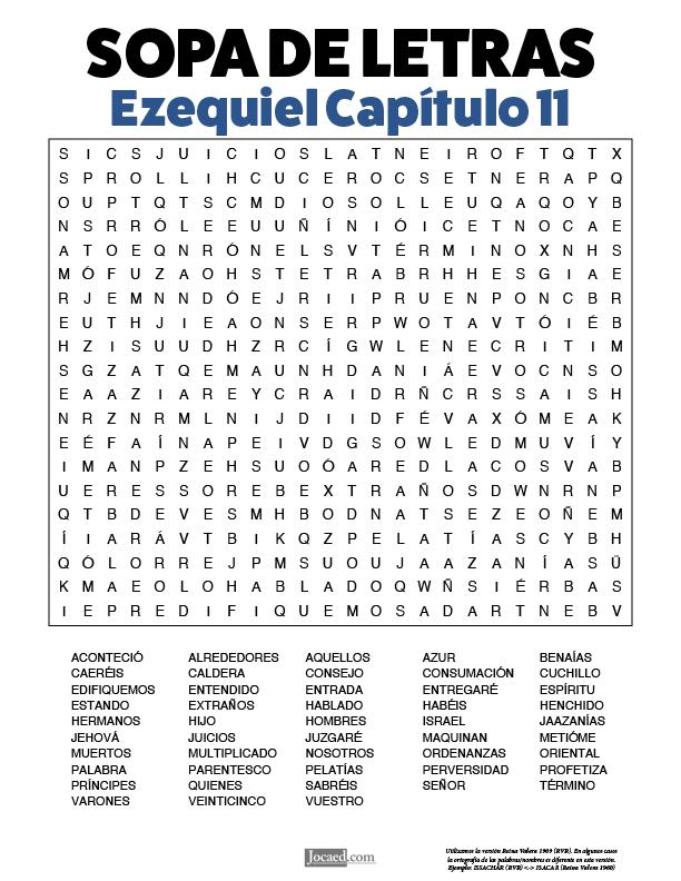 Sopa de Letras - Ezequiel Cápitulo 11