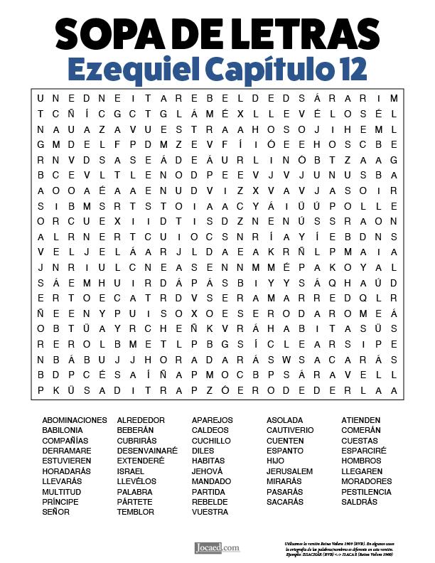 Sopa de Letras - Ezequiel Cápitulo 12