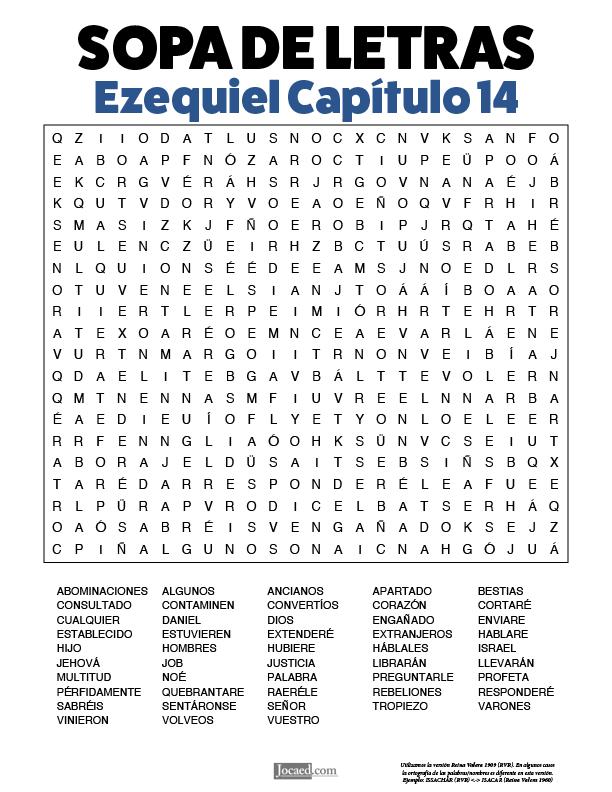 Sopa de Letras - Ezequiel Cápitulo 14