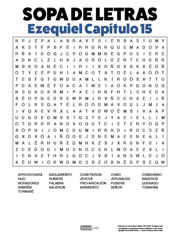 Sopa de Letras - Ezequiel Cápitulo 15