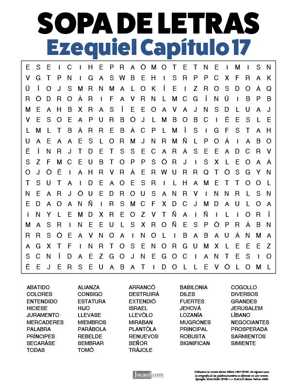 Sopa de Letras - Ezequiel Cápitulo 17