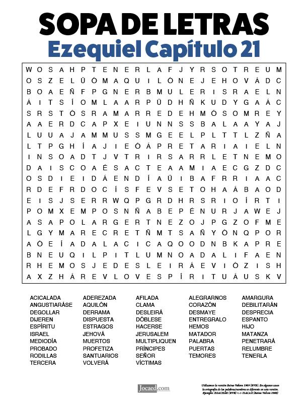 Sopa de Letras - Ezequiel Cápitulo 21