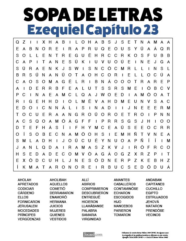 Sopa de Letras - Ezequiel Cápitulo 23