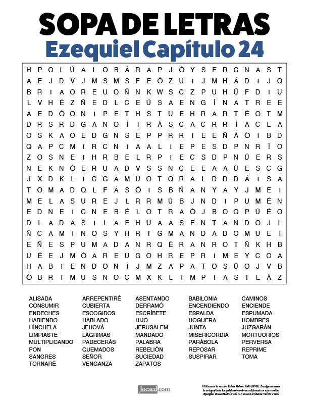 Sopa de Letras - Ezequiel Cápitulo 24