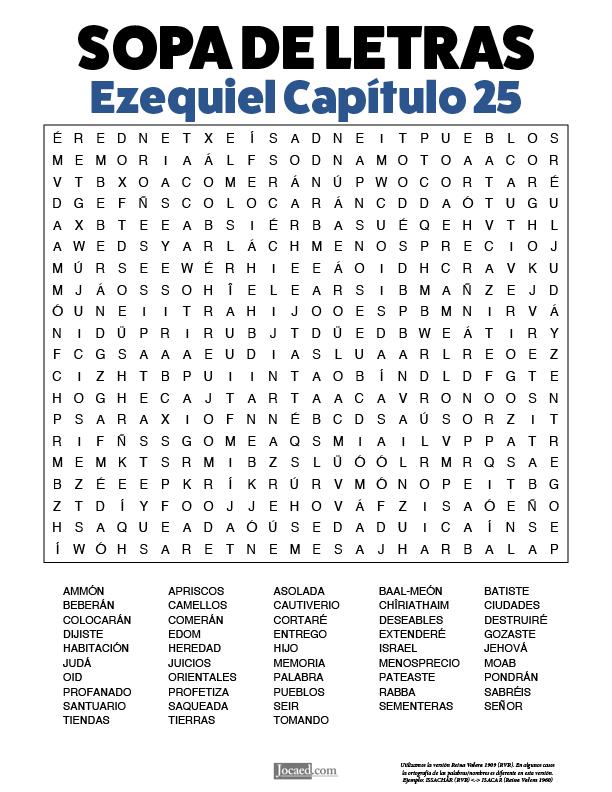 Sopa de Letras - Ezequiel Cápitulo 25