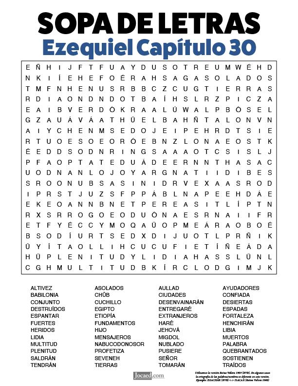 Sopa de Letras - Ezequiel Cápitulo 30