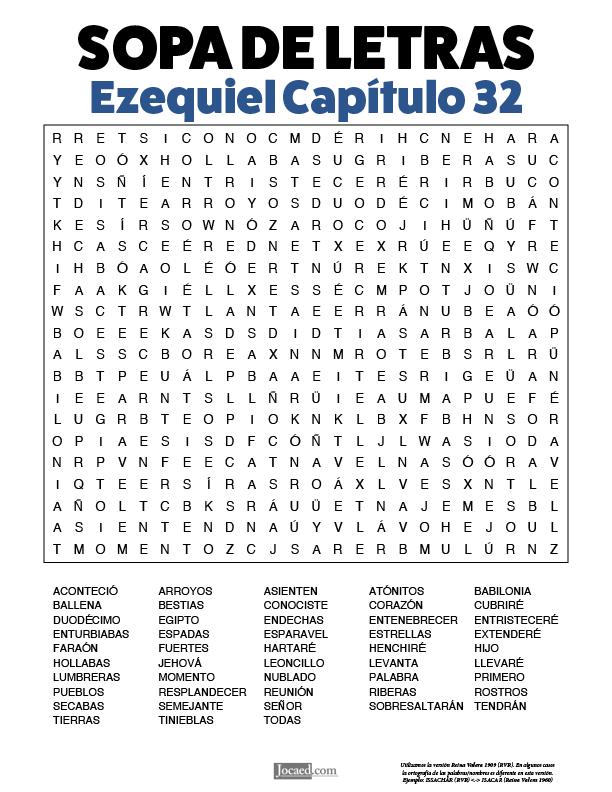Sopa de Letras - Ezequiel Cápitulo 32