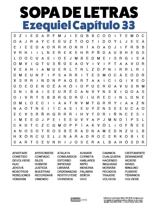 Sopa de Letras - Ezequiel Cápitulo 33