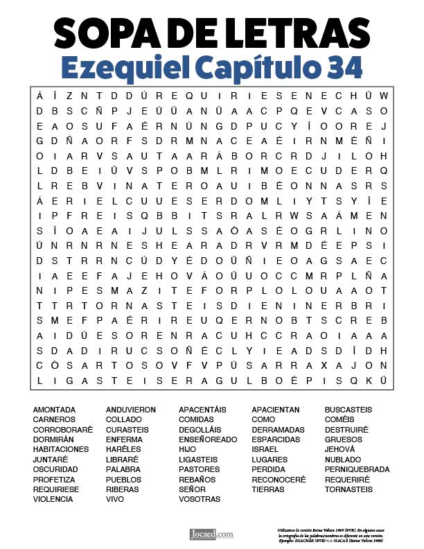 Sopa de Letras - Ezequiel Cápitulo 34