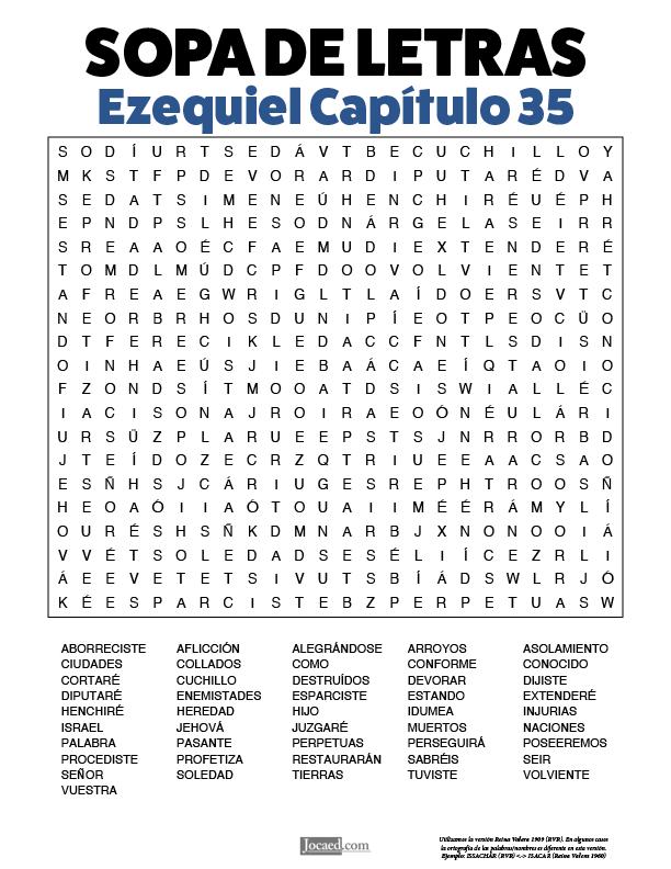 Sopa de Letras - Ezequiel Cápitulo 35