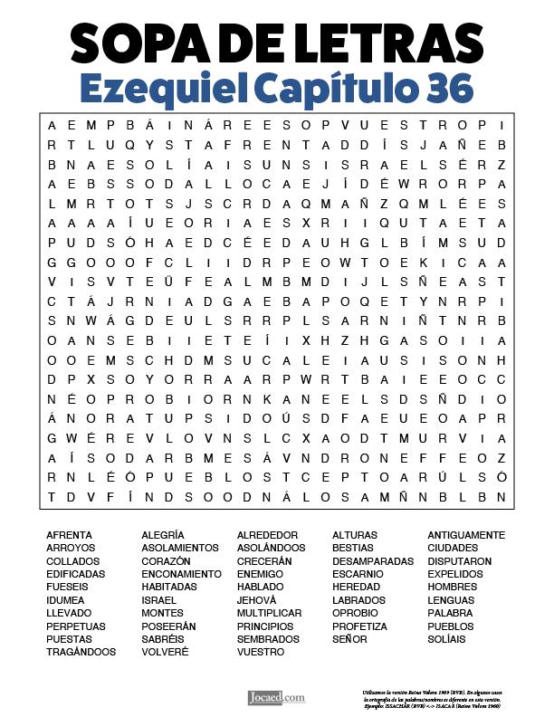 Sopa de Letras - Ezequiel Cápitulo 36
