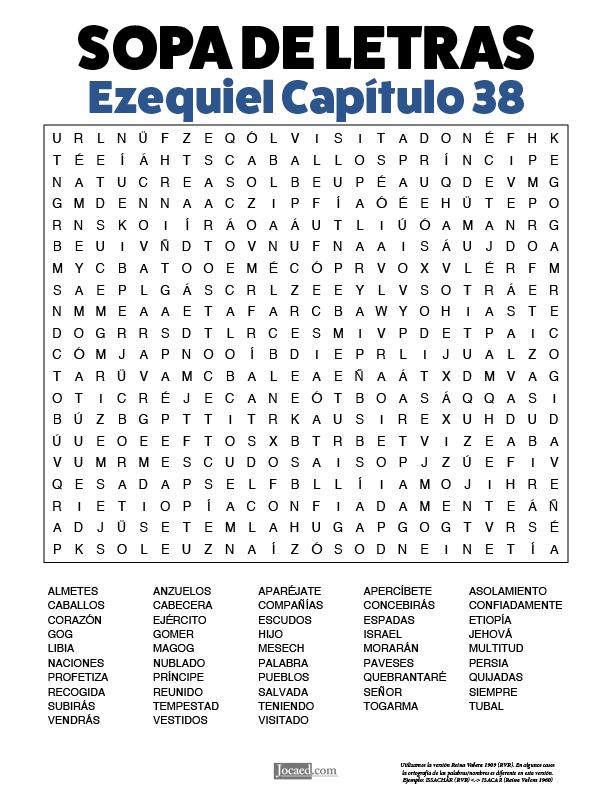 Sopa de Letras - Ezequiel Cápitulo 38