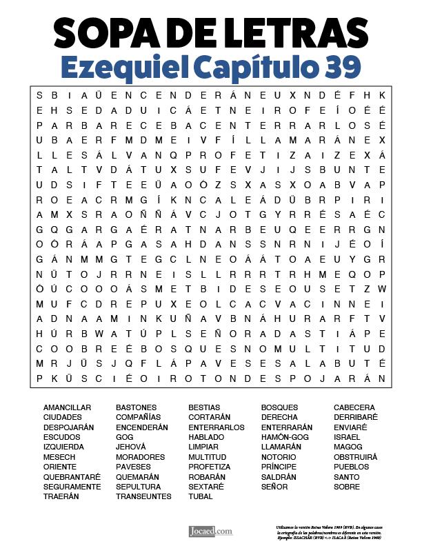 Sopa de Letras - Ezequiel Cápitulo 39