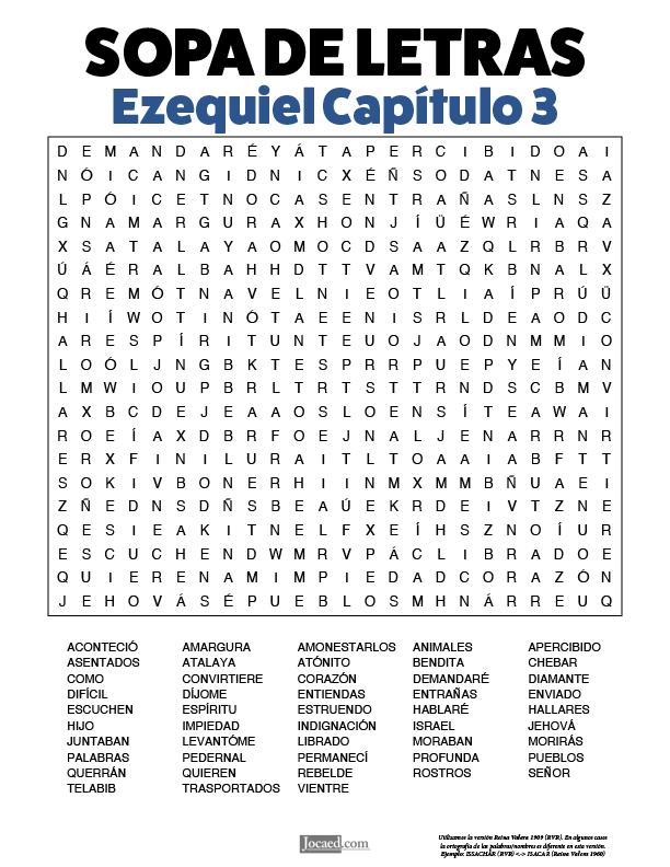 Sopa de Letras - Ezequiel Cápitulo 3