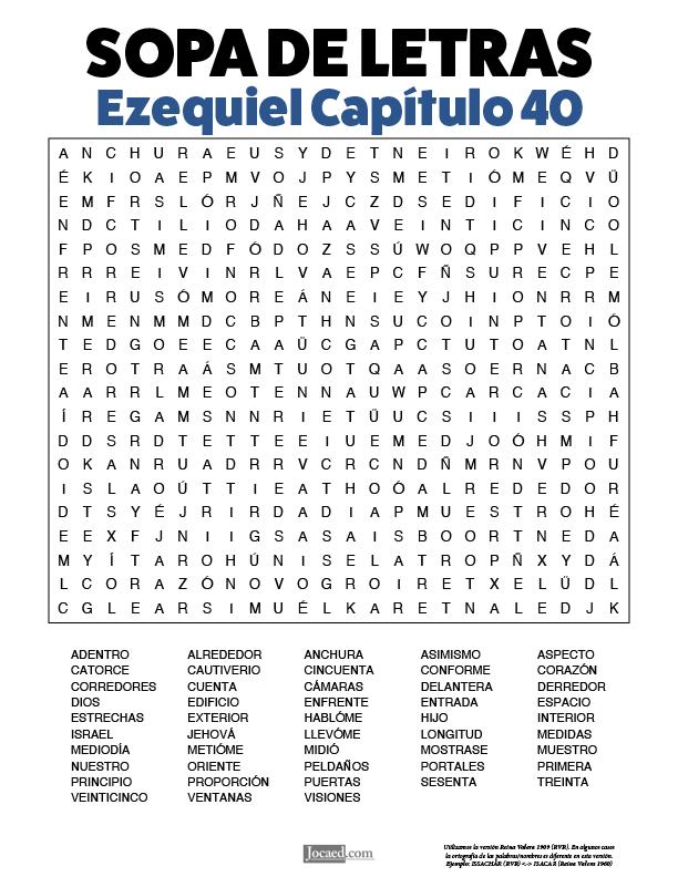 Sopa de Letras - Ezequiel Cápitulo 40