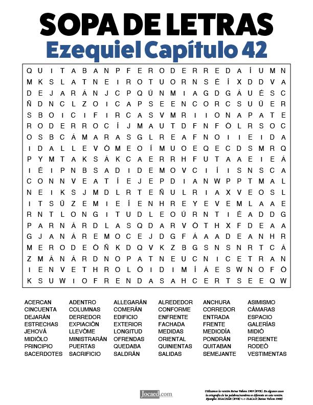Sopa de Letras - Ezequiel Cápitulo 42