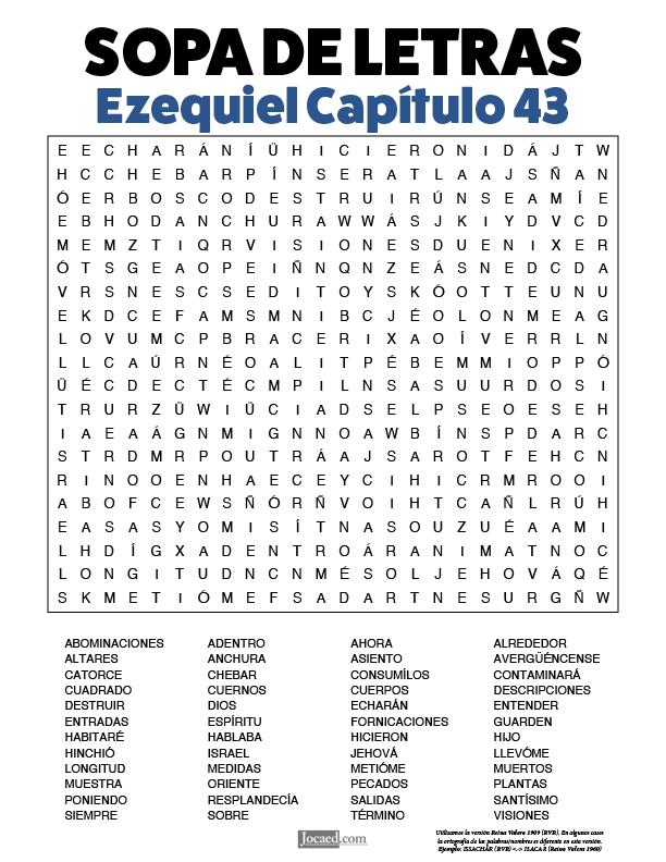 Sopa de Letras - Ezequiel Cápitulo 43