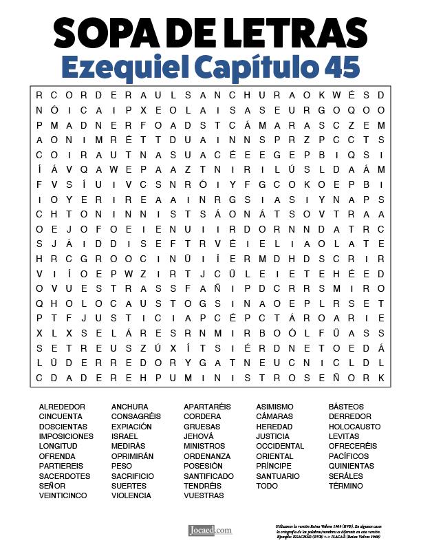 Sopa de Letras - Ezequiel Cápitulo 45