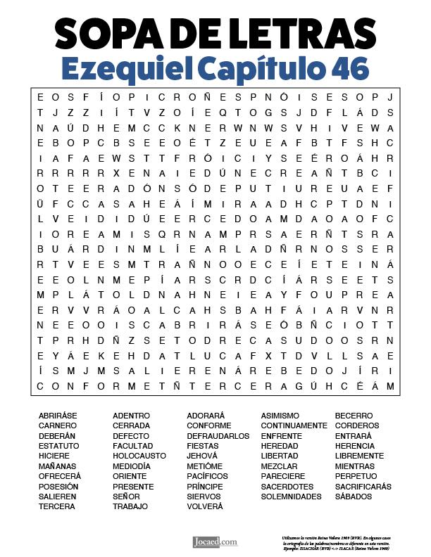 Sopa de Letras - Ezequiel Cápitulo 46