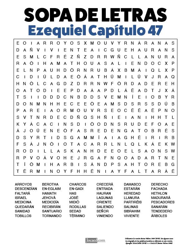 Sopa de Letras - Ezequiel Cápitulo 47